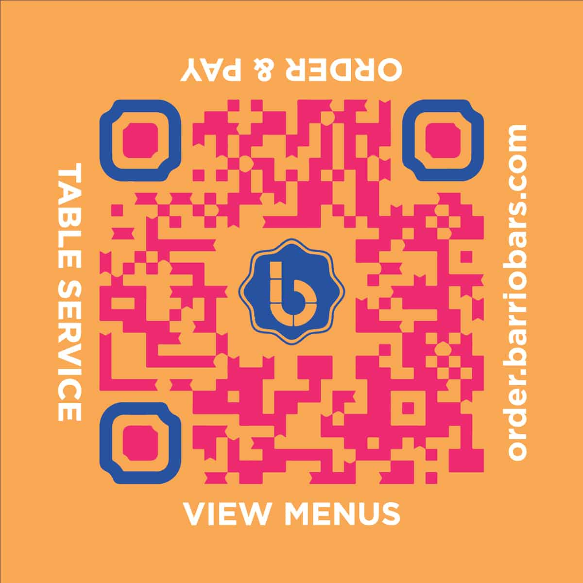 Barrio Table Order WebApp